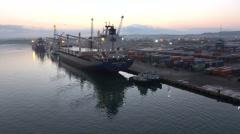 Arriving By Ship To Santo Tomas de Castilla Guatemala Stock Footage