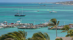 Tourist beach attraction, Aruba Stock Footage