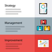 Strategy management improvement template Stock Illustration