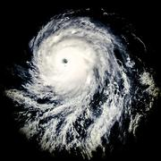 Global storm space vortex Celia  Elements of this image furnished by NASA - stock illustration