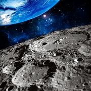Moon surface photo. Elements of this image furnished by NASA Stock Illustration
