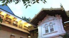 People visit Buddhist temple in Colombo, Sri Lanka. Stock Footage