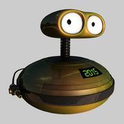 ZAX R-2015 - Sci-Fi Rigged Alien Droid (Robot) 3D Model