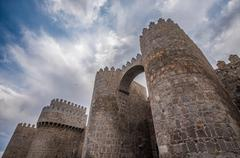 Walls of Avila, Spanish town in Castile and Leon Stock Photos