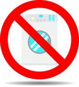 Ban wash machine Stock Illustration