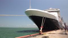 MS Veendam In Port At Santo Tomas Guatemala Stock Footage