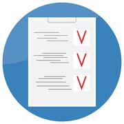 Checklist icon design flat - stock illustration