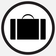 Case icon monochrome black white - stock illustration