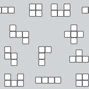 Seamless pattern linear block game - stock illustration