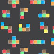Pattern color block game - stock illustration
