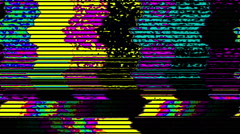 TV color bars test card malfunction - TV Noise 1001 HD, 4K Stock Footage Stock Footage