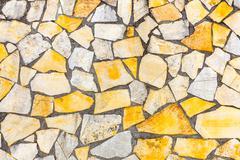 Variety of stones brickwork or masonry as background wall Stock Photos