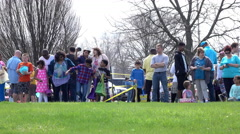 Easter egg hunt in Fairborn Ohio 4k Stock Footage