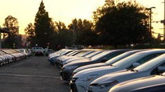 New Cars on Dealeship lot Stock Footage
