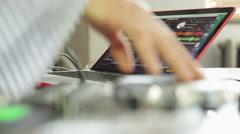 Dj Mixes The Track Stock Footage
