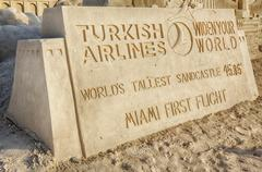 World's tallest sand castle at Historic Virginia Key Beach Kuvituskuvat