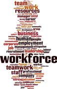 Workforce word cloud - stock illustration