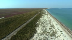 Sand Island (bar) from a height. Stock Footage