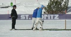 cricket on ice run - stock footage