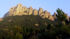 Montserrat Mountains Clouds Spain Sunset 5K Stock Video Footage Stock Footage