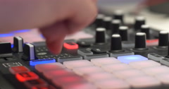 DJ Music Producer Sampling Stock Footage