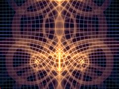 Numeric Grid Lines - stock illustration