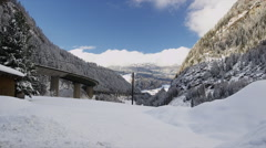 Europa Bruecke Brenner Autobahn near Austrian/Italy Border - stock footage