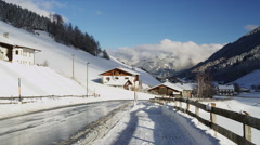 Snow Covered Landscape of Gries am Brenner Stock Footage