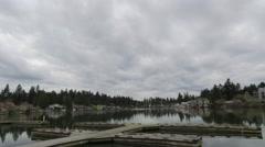 4K Time Lapse video of Lake Oswego near Portland Oregon Stock Footage