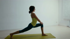 Professional yoga trainer conducting a lesson Stock Footage