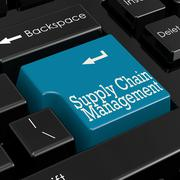 Supply chain management concept 3D Render - stock illustration