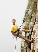 Man abseiling Stock Photos