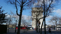 Arc de Triomphe in Paris. France. Stock Footage