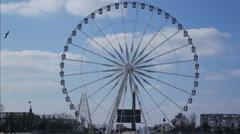 Ferris wheel on the Place de la Concorde Stock Footage