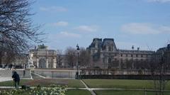 Famous Tuileries garden. Tuileries Garden Stock Footage