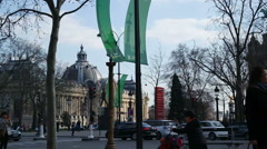 city street in Paris, France. - stock footage