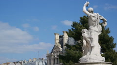 Beautiful statue in Tuileries Garden. Paris, spring of 2016, march. Stock Footage