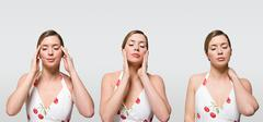 Woman with ache Stock Photos