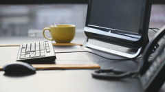 Office work place - stock footage