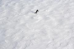 Solitary skier - stock photo