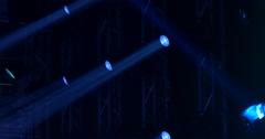Concert light spots Stock Footage