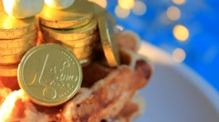Blue background -  Golden Chocolate - Glow - 05 Stock Footage