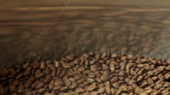 Mixing coffee during cooling Stock Footage