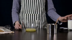 Preparation of fritters Stock Footage