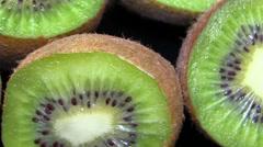 Kiwi fruit, close up Stock Footage