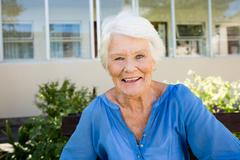 Senior woman posing Stock Photos