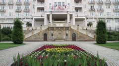 Magnificent Hotel Imperial Gardens Stock Footage