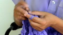 Hand crochet, handmade - stock footage