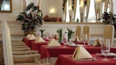 Luxury historical restaurant design interior - stock footage