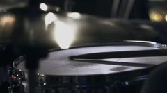 Drummer playing the rhythm on the drums Stock Footage
